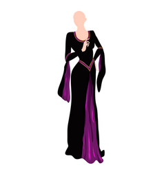 Purple dress vector