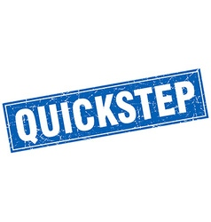 Quickstep blue square grunge stamp on white vector