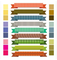 Ribbon stripes retro vector image