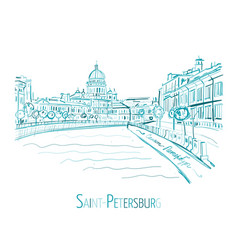 Saint petersburg russia sketch for your design vector