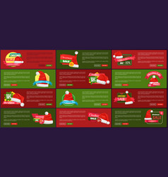 Set of advertisement labels info about price off vector