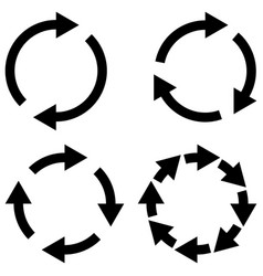 set reload refresh icon spinning arrows in circle vector image