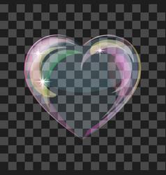 Shiny bubble heart vector