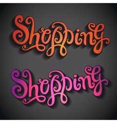 Shopping hand lettering vector