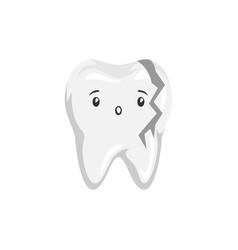 Sick broken tooth vector