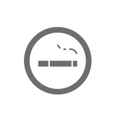 Sign smoking area grey icon isolated on white vector