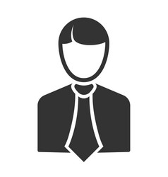 Silhouette of a businessman in a simple style vector