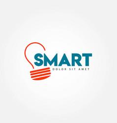 Smart education template design vector