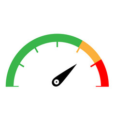 speedometer green orange red color vector image