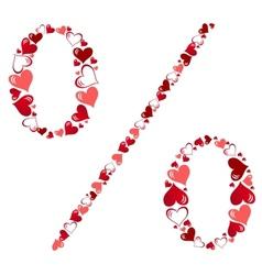 Symbol of hearts vector image