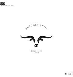 texas longhorn bull logo vector image