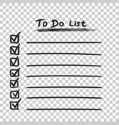 to do list icon with hand drawn text checklist vector image