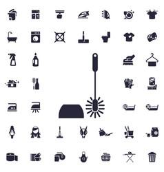 Toilet brush icon vector