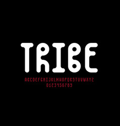 Tribal style font design vector