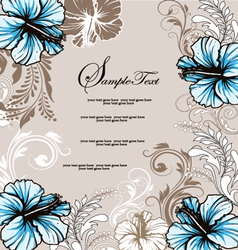 Wedding card with floral background vector image vector image