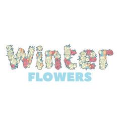 Winter flowers vector