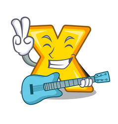 With guitar cartoon multiply sign for calculate vector