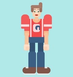 young man in flat style drawing vector image