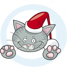 cat Santa vector image vector image