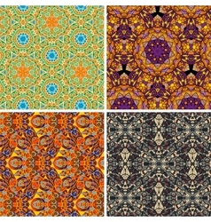 Colorful seamless pattern oriental vector image