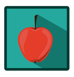 emblem apple icon image vector image