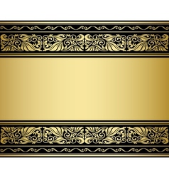 Gilded ornmaments and patterns vector image vector image