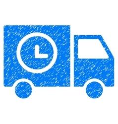 Shipment Schedule Van Grainy Texture Icon vector image