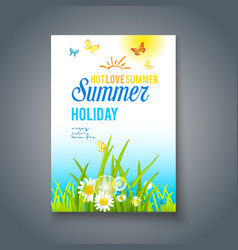 summer nice day card vector image vector image