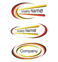 corporate logo templates vector image vector image