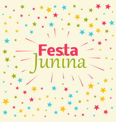 Festa junina celebration background vector