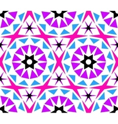 Kaleidoscope Abstract Flower Pattern vector image