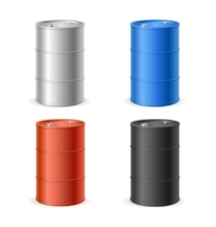 Oil Barrel Drum Collection vector image