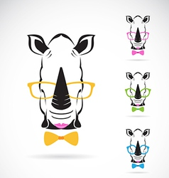 Rhino glasses vector image vector image