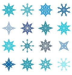 Snowflakes Set - Paper Flat Design vector image vector image