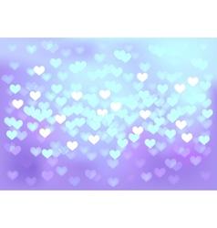 Violet festive lights in heart shape background vector image vector image