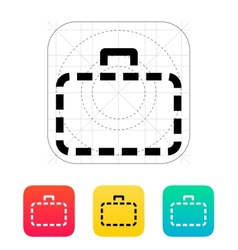 Absence case icon vector