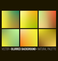 Blurred abstract backgrounds set vector