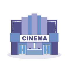 Building cinema theater architectural structure vector