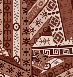Ethnic ornaments patches background vector image vector image