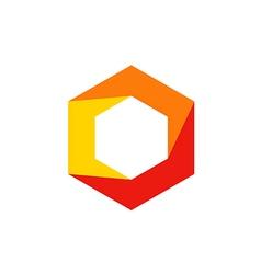 geometry cube polygon technology logo vector image