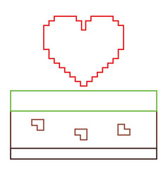 heart love life video game vector image vector image
