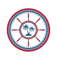 Palms symbol on white vector image vector image