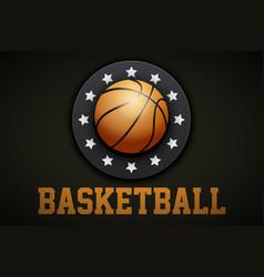 premium basketball label vector image vector image