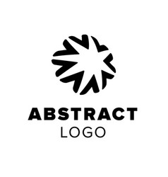 abstract star logo geometric symbol template for vector image vector image