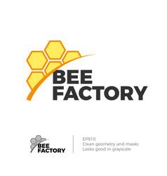 bee honey logo vector image vector image