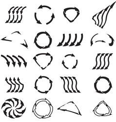 black arrows vector image vector image