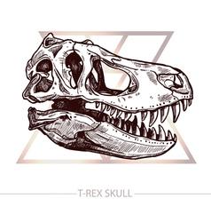 Dinosaur Skull Drawing Of T Rex Skull vector image vector image