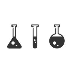 Flasks icon logo on white background vector