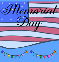Graphic design memorial day hand draw vector