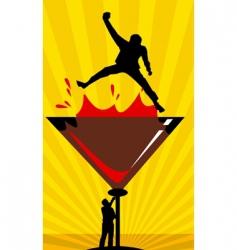 men drinking wine vector image vector image